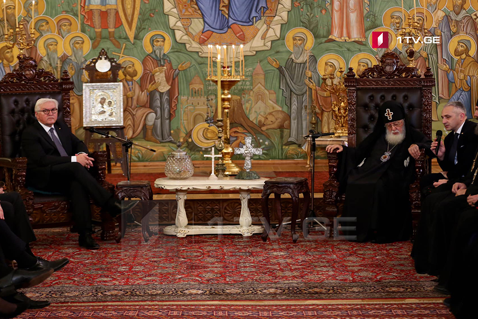 Илия II обращаясь к Франку-Вальтеру Штайнмайеру - Вы прошли такой долгий путь в дипломатической деятельности, что вам будет не трудно сдвинуть с места оккупацию (фото)