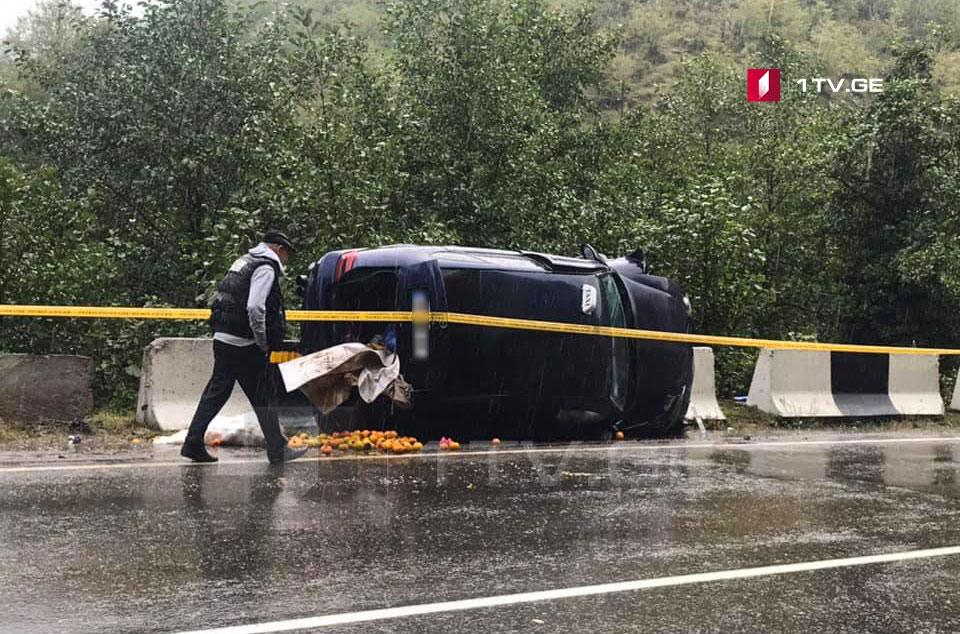 სოფელ ძირულაში ავარიის შედეგად ერთი ადამიანი დაშავდა