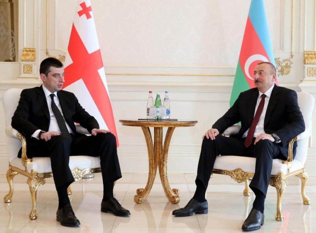Георгий Гахария встретился с Ильхамом Алиевым