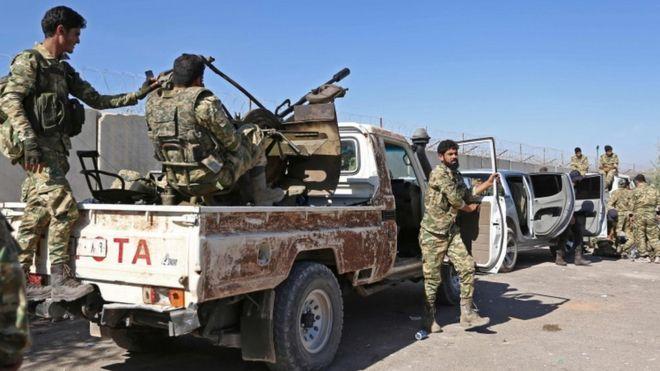 """""""ბიბისის"""" ინფორმაციით, სირიაში სამხედრო ოპერაციას 11 მშვიდობიანი მოქალაქე და ათობით ქურთი მებრძოლი ემსხვერპლა"""