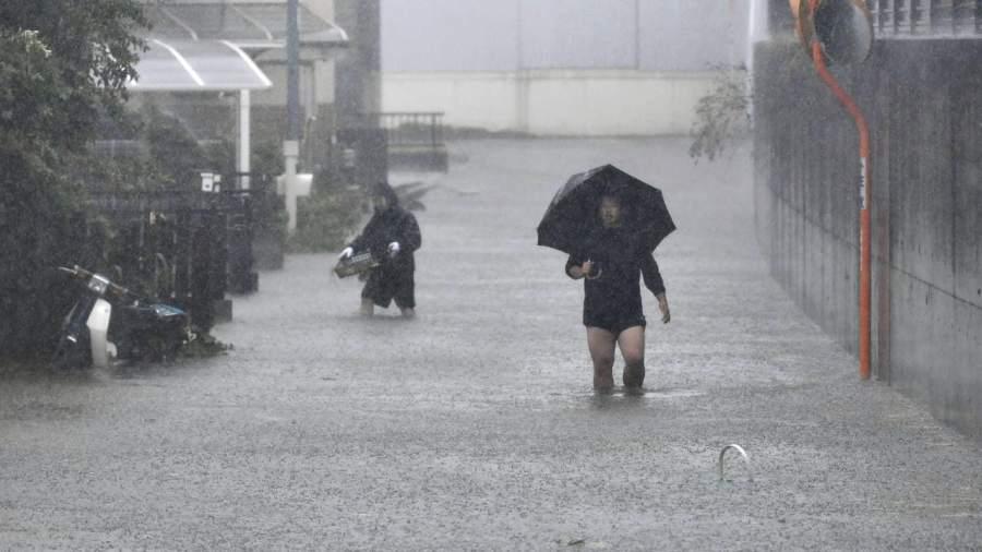 იაპონიაში ტაიფუნის შედეგად დაშავებულთა რიცხვი გაიზარდა