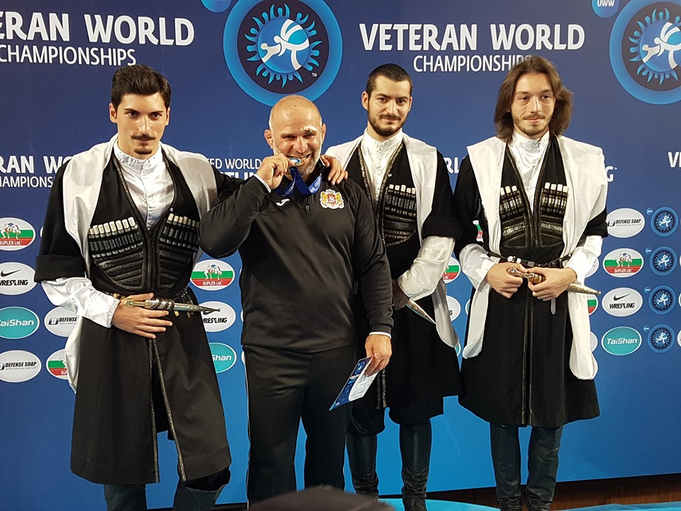 Luka Kurtanidze became World Champion among Veteran Wrestlers for third time in a row