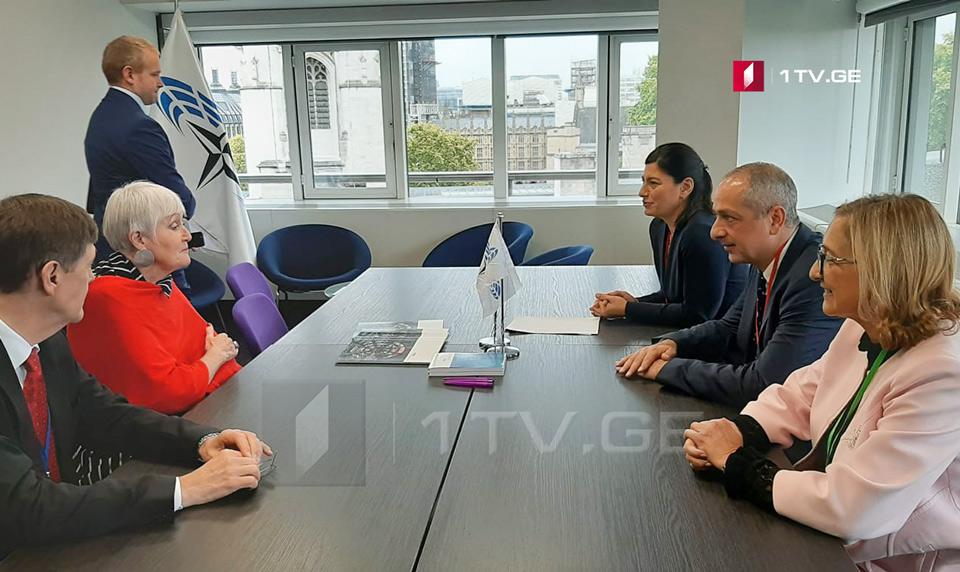 NATO Parlament Assambleyasının prezidenti gürcü deputatlarını qəbul etdi