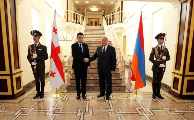 Georgian PM meets with President of Armenia, Catholicos of All Armenians