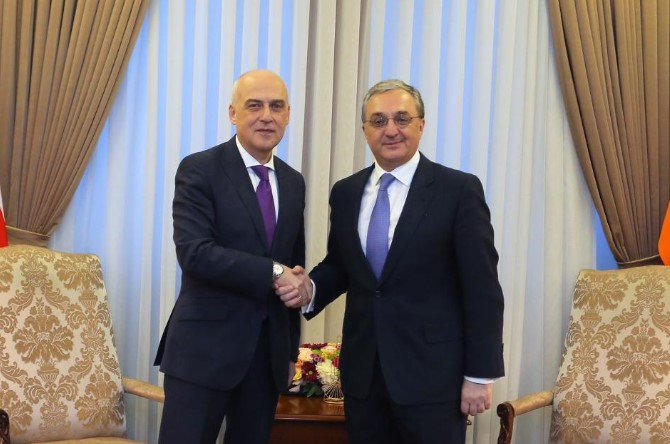 Georgian and Armenian Foreign Ministers discuss issues of cooperation