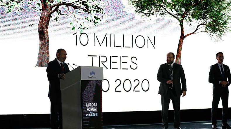 Հայաստանի կառավարությունը մինչև 2020 թվականի հոկտեմբերի 10-ը ծրագրում է տնկել 10 միլիոն ծառ