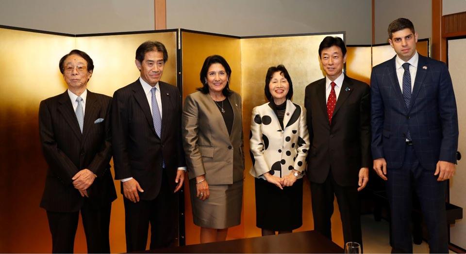 სალომე ზურაბიშვილმა იაპონიის საპარლამენტო მეგობრობის ჯგუფი საქართველოში მოიწვია