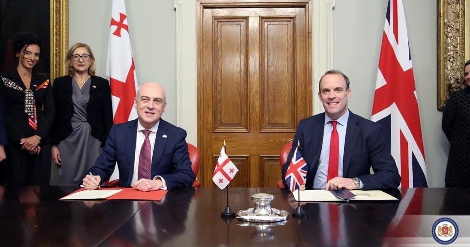 Грузия и Великобритания подписали соглашение о стратегическом партнерстве