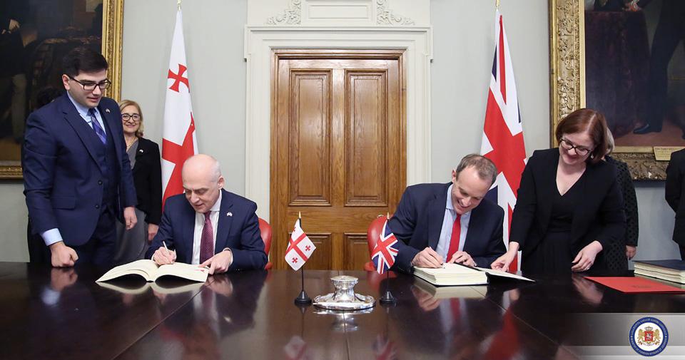 დავით ზალკალიანი - დიდ ბრიტანეთთან სტრატეგიული თანამშრომლობა თვისობრივად ახალ დონეზე აიყვანს ჩვენს ორმხრივ ურთიერთობებს