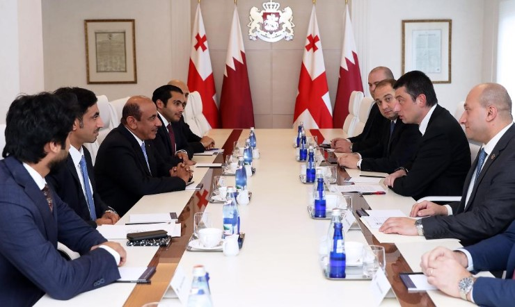 Giorgi Gakharia met with Qatari Transport and Communications Minister