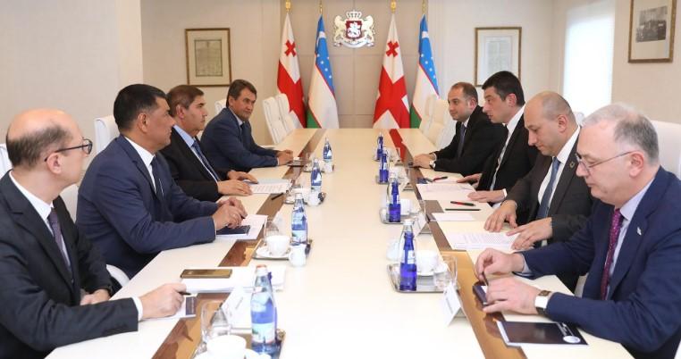 გიორგი გახარიამ და უზბეკეთის ვიცე პრემიერმა ორი ქვეყნის თანამშრომლობის საკითხები განიხილეს