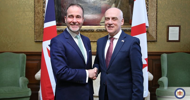 დავით ზალკალიანი ევროპისა და ამერიკის საკითხებში დიდი ბრიტანეთის სახელმწიფო მინისტრს შეხვდა