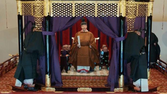 იაპონიის იმპერატორმა ნარუჰიტომ ტახტზე ასვლის შესახებ ოფიციალურად განაცხადა