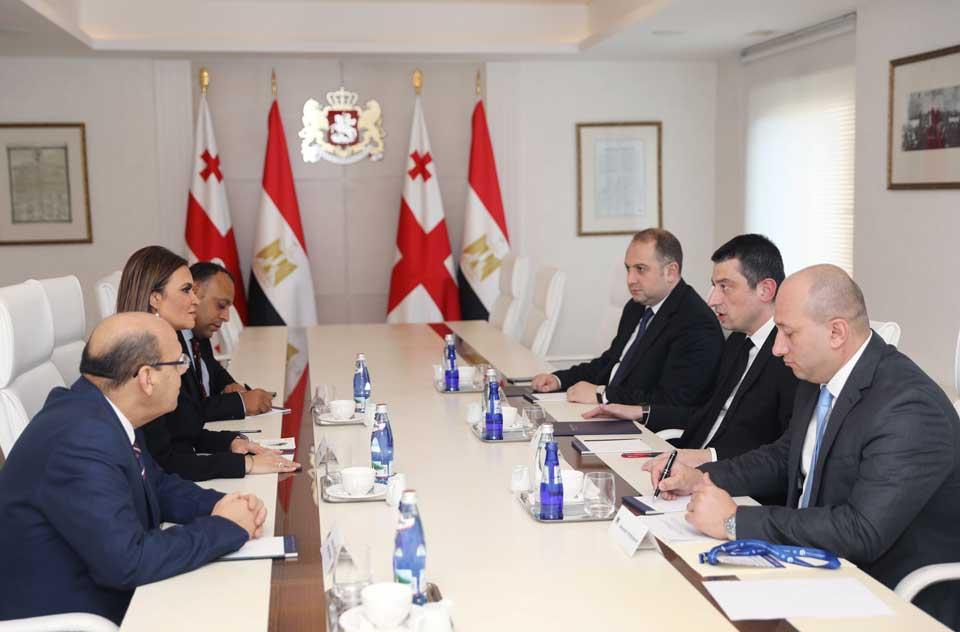 გიორგი გახარია ეგვიპტის ინვესტიციებისა და საერთაშორისო თანამშრომლობის მინისტრს შეხვდა