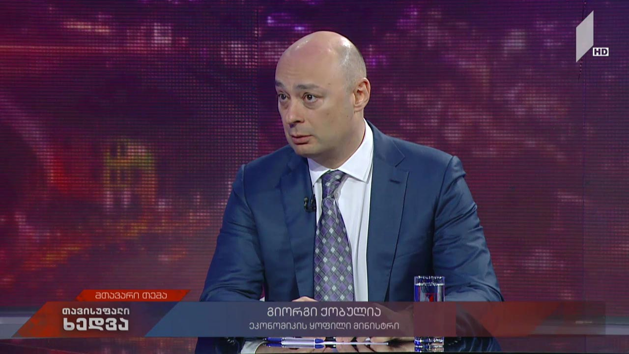 """გიორგი ქობულიას პოლიტიკური გეგმები - ეკონომიკის ყოფილი მინისტრი """"თავისუფალ ხედვაში"""""""