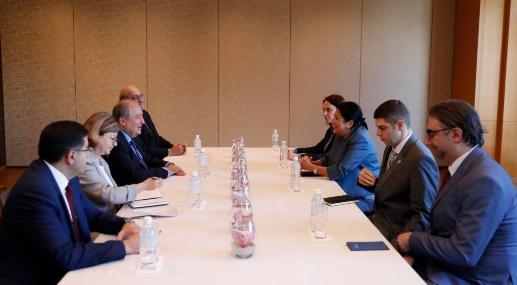 Presidents of Georgia and Armenia meet in Tokyo