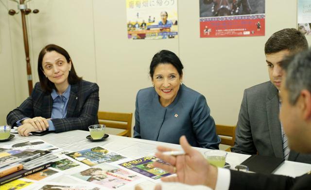 სალომე ზურაბიშვილმა ტოკიოში გამართულ შეხვედრაზე იაპონიაში ქართული კინოხელოვნების პოპულარიზაციის მნიშვნელობაზე ისაუბრა