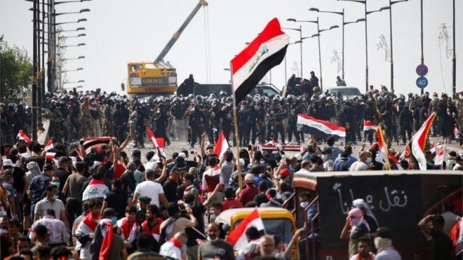 ერაყში უკანასკნელ 12 საათში დემონსტრაციას ორი ადამიანი ემსხვერპლა, 350 კი დაშავდა