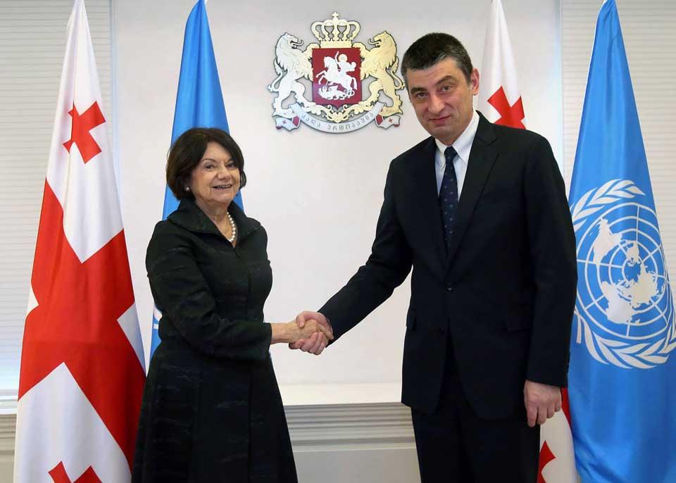 Георгий Гахария и заместитель генсека ООН обсудили ситуацию на оккупированных территориях