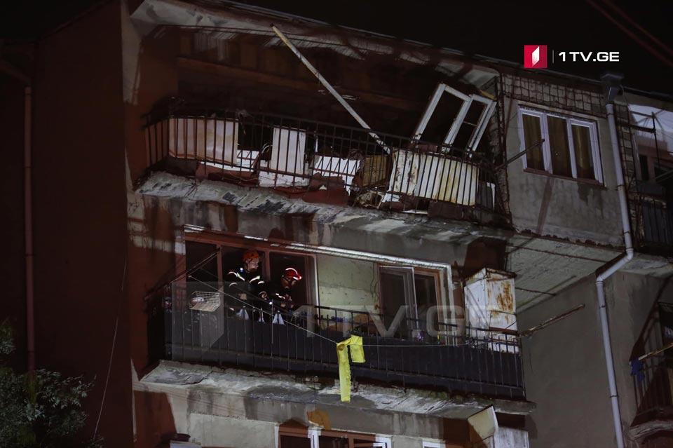 Թեվդորե մղվդելիի փողոցում բնական գազի պայթյունի հետևանքով տուժել է մեկ մարդ (ֆոտոշարք)