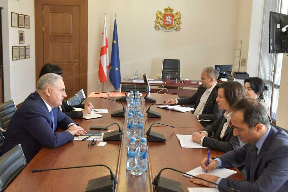 ირაკლი კოვზანაძე საერთაშორისო სავალუტო ფონდის მისიის ხელმძღვანელს შეხვდა