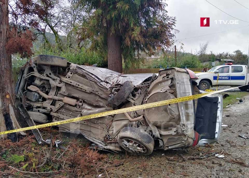 ზუგდიდის მუნიციპალიტეტში ავტოსაგზაო შემთხვევის შედეგად სამი ადამიანი დაშავდა