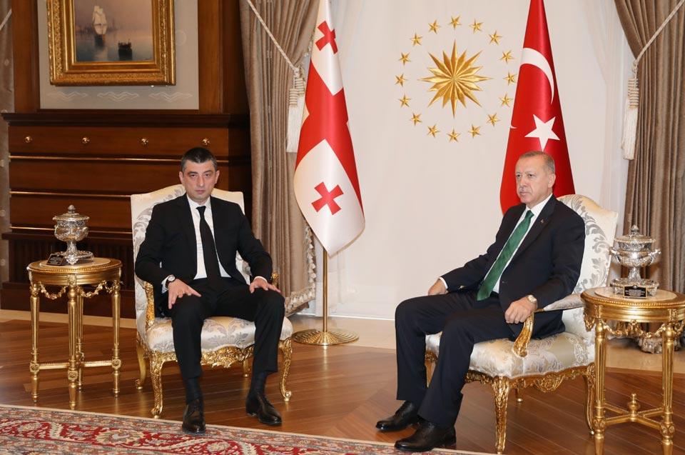 Giorgi Gakharia met with Recep Tayyip Erdogan