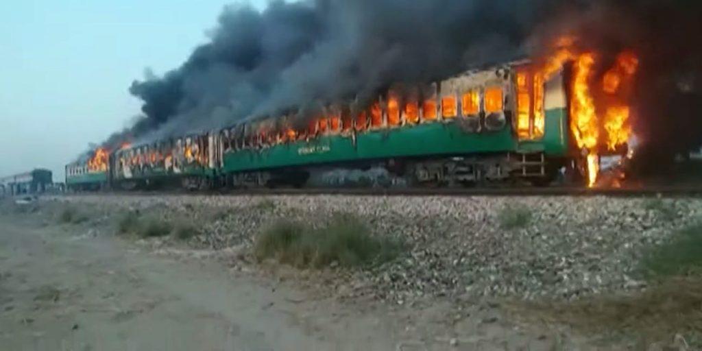 პაკისტანში, მატარებელში ხანძრის შედეგად დაღუპულთა რიცხვი 74-მდე გაიზარდა