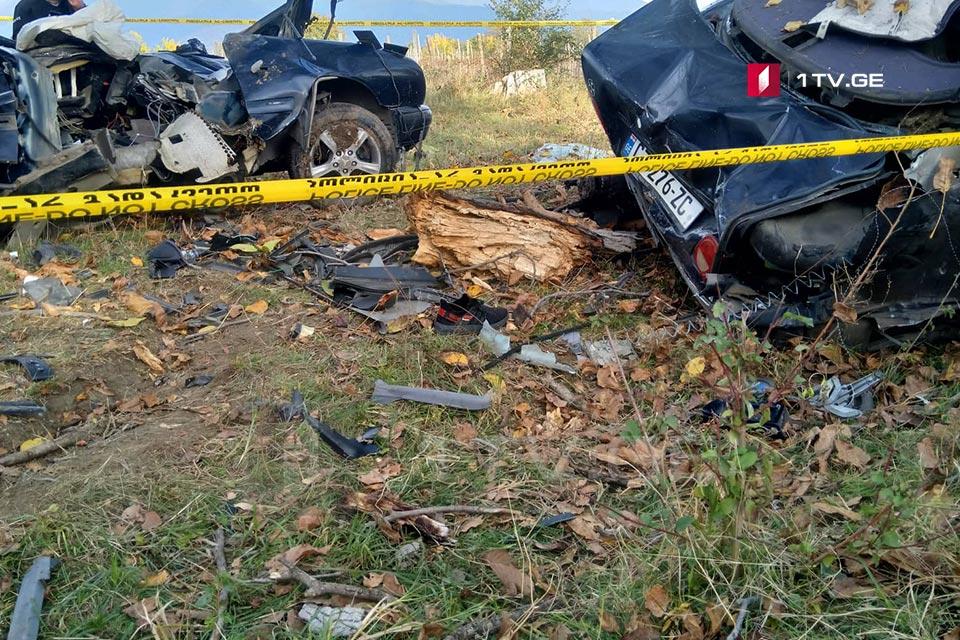 თელავი-ყვარლის საავტომობილო გზაზე ავტოსაგზაო შემთხვევის შედეგად სამი ახალგაზრდა მამაკაცი დაიღუპა