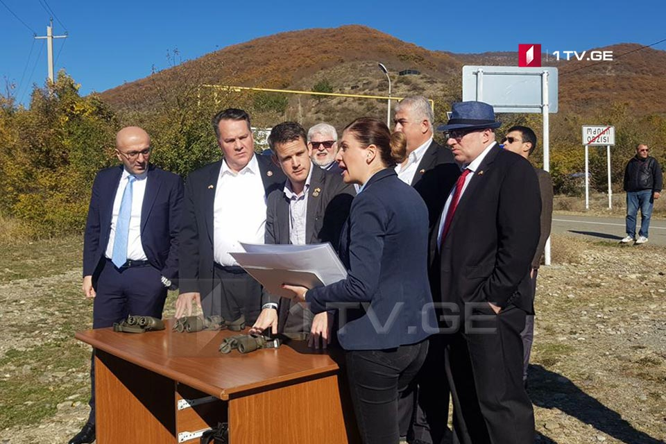 The US Congressmen visited the village of Odzisi