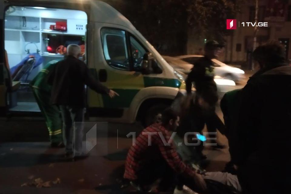 თბილისში, კოსტავას ქუჩაზე ავტომობილი ფეხით მოსიარულეს დაეჯახა