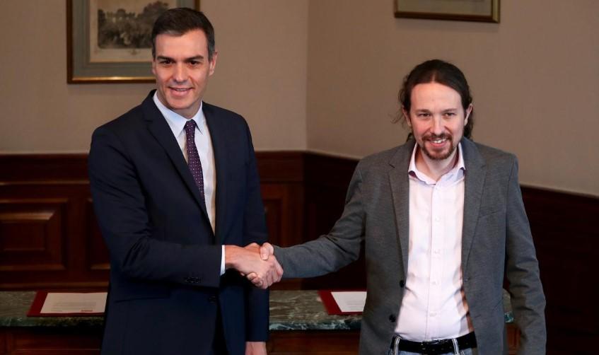 """ესპანეთში სოციალისტები და მოძრაობა """"პოდემოსი"""" კოალიციური მთავრობის ფორმირებაზე შეთანხმდნენ"""