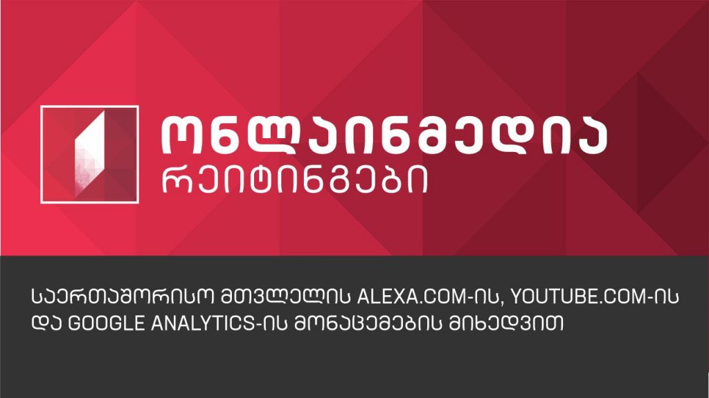 ონლაინმედია რეიტინგები alexa.com-ის, youtube.com-ისა და google analytics-ის მიხედვით
