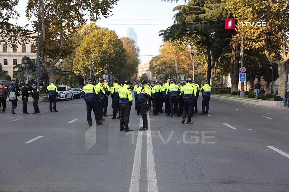 შსს აქციის მონაწილეებს მოუწოდებს, დაემორჩილონ პოლიციის მოთხოვნას და დაიცვან საზოგადოებრივი წესრიგი