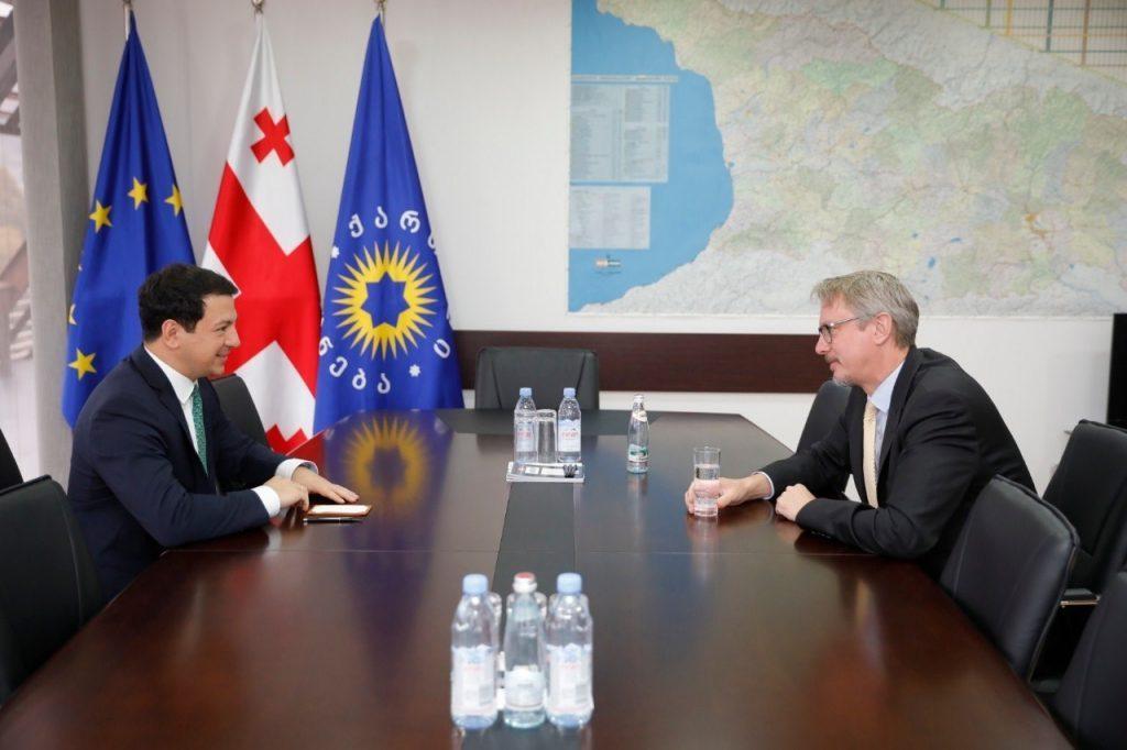 Арчил Талаквадзе встретился с Карлом Харцелемпо вопросам, связанным с пропорциональными выборами