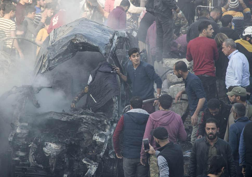სირიის ქალაქ ალ-ბაბში დანაღმული მანქანის აფეთქებას 10 ადამიანი ემსხვერპლა