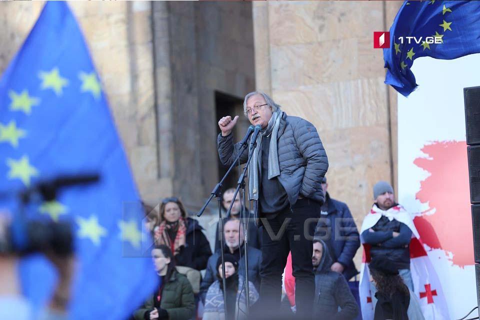 Qriqol Vaşadze - kimin də bir yeri varsa, Parlamentin piketləşdirilməsinə başlayırıq