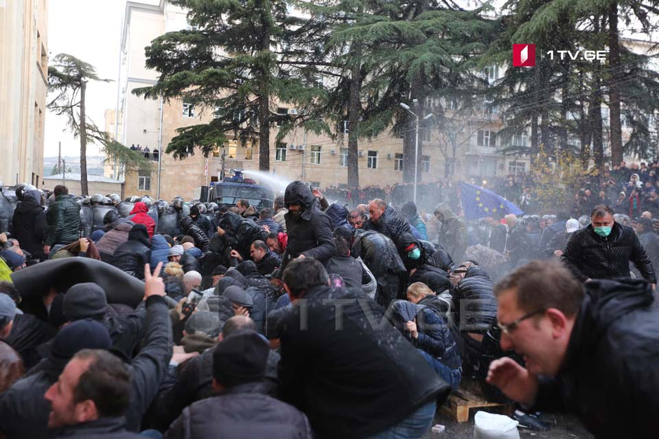 Water Cannons used against protesters (Photo)