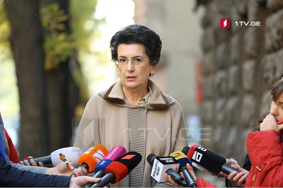 Нино Бурджанадзе заявляет, что на встречах с Москве поставила вопрос освобождения Важи Гаприндашвили
