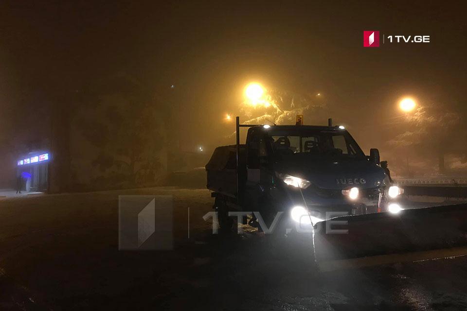Ալգեթի-Փարավանի ճանապարհահատվածին արգելվել է կցովի ավտոտրանսպորտի տեղաշարժը
