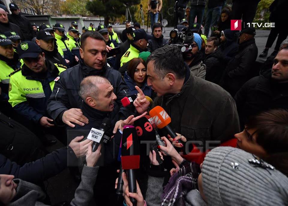 Clash at Majoritarian bureau of MP Mamuka Mdinaradze