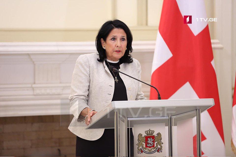 СаломеЗурабишвили-Сейчас не время для противостояния