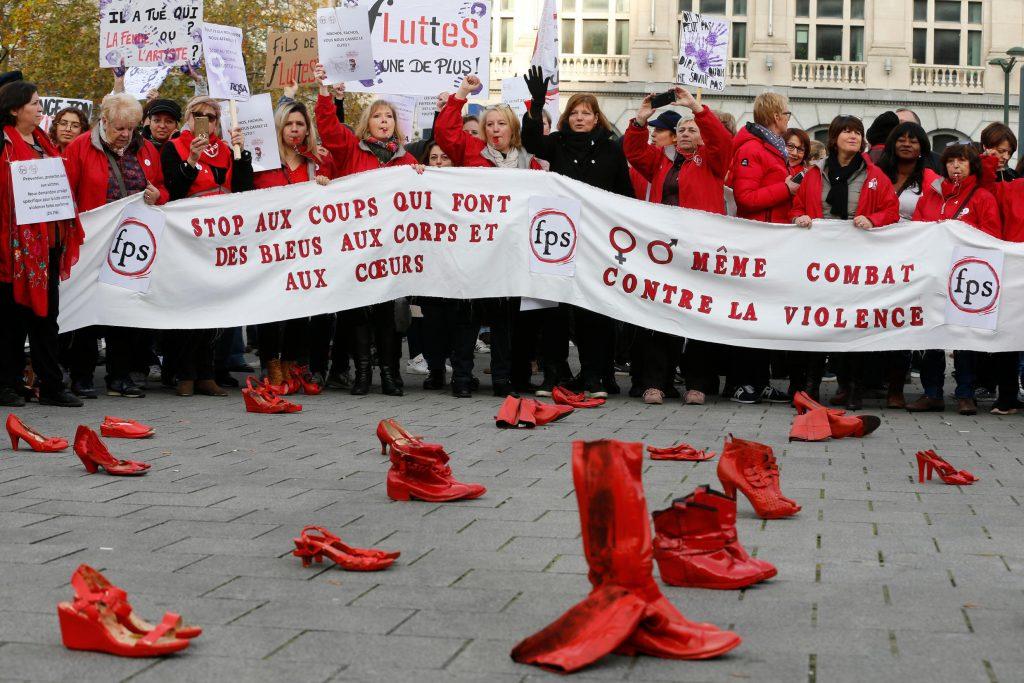ბრიუსელში ქალთა წინააღმდეგ ძალადობის გასაპროტესტებლად დემონსტრაცია გაიმართა