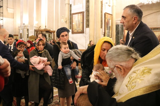 სამების საკათედრო ტაძარში 61-ე საყოველთაო ნათლობა გაიმართა