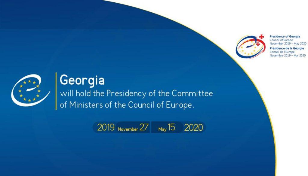 Georgia takes up chairmanship of CoE today