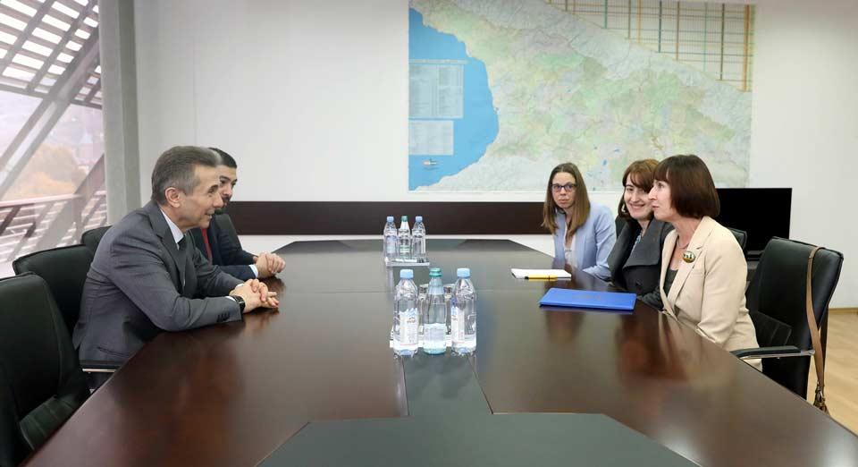 Bidzina İvanişvili Elizabet Rud ilə görüşdü