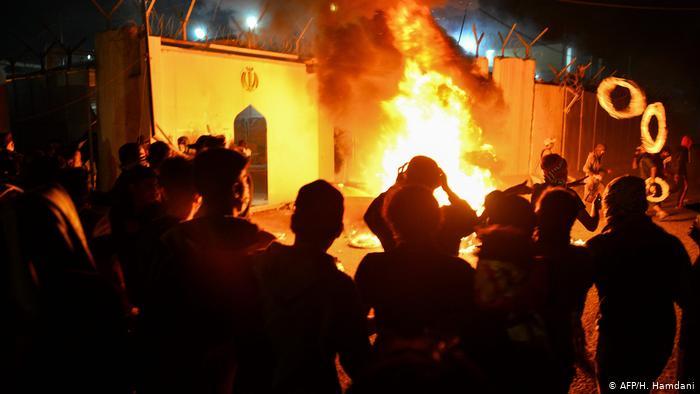 ერაყში დემონსტრანტები ირანის საკონსულოს თავს დაესხნენ