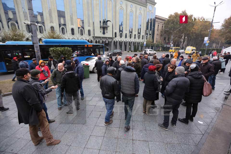 Վրաստանի խորհրդարանի մոտ ընդդիմության կուսակցությունների կողմից կազմակերպված ցույցն ավարտվել է