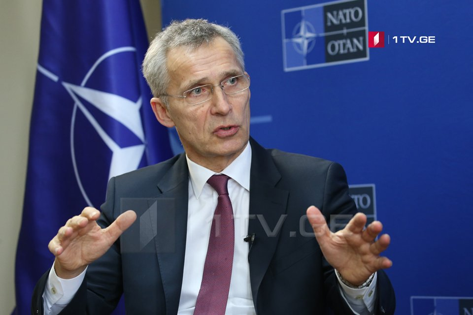Jens Stoltenberg - We see a Russia, which has been responsible for aggressive actions against Georgia, Ukraine, but also have forces in Moldova