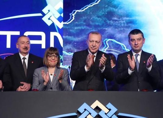 Georgian PM, together with Recep Tayyip Erdogan and Ilham Aliyev, Inaugurates TANAP in Turkey
